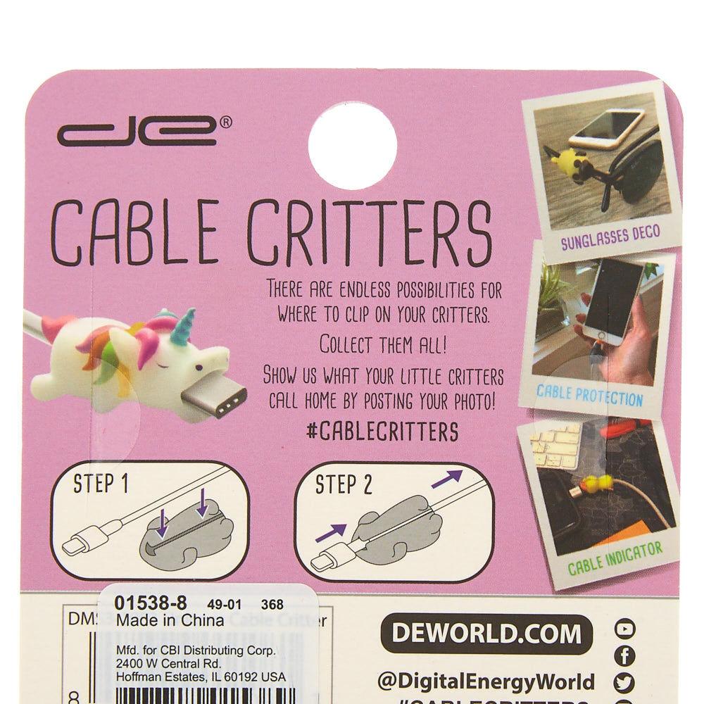 White Claire/'s Girl/'s Unicorn Cable Critter