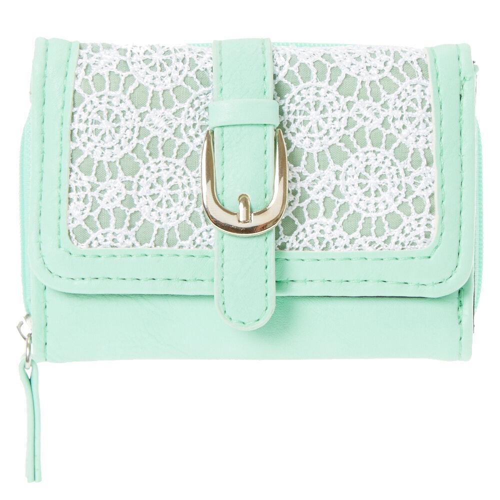 Mint Crochet Mini Wallet