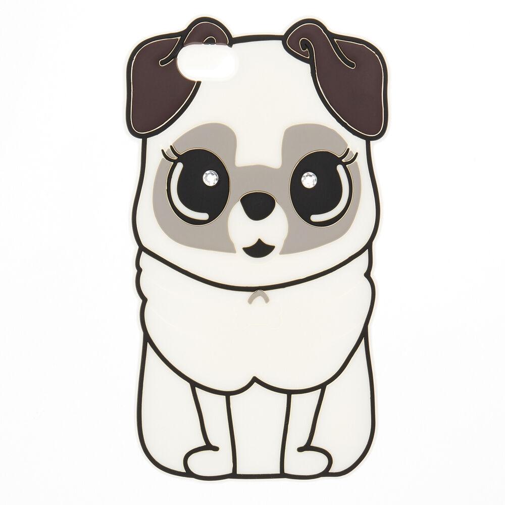 White Silicone Pug Case