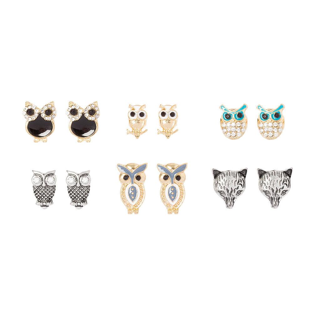 It's a Hoot Stud Earrings Set of 6