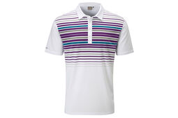 PING Cortes Striped Polo Shirt