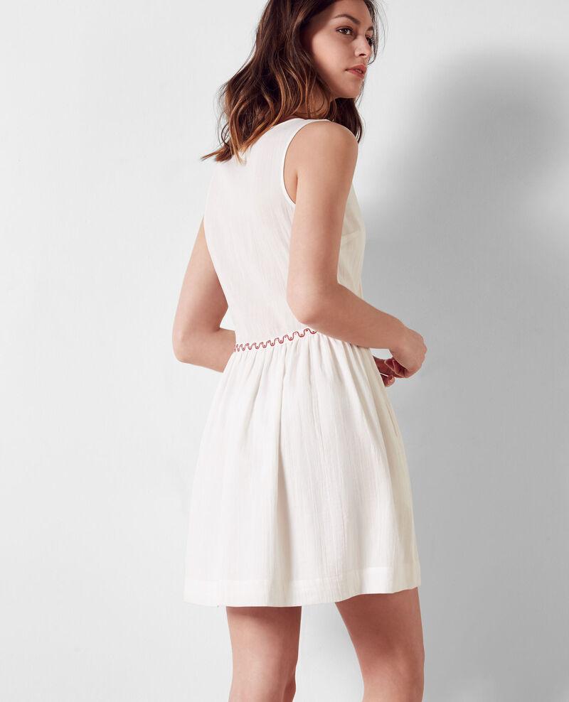 Dress with embroidery details blanc coppa comptoir des cotonniers - Peau lainee comptoir des cotonniers ...