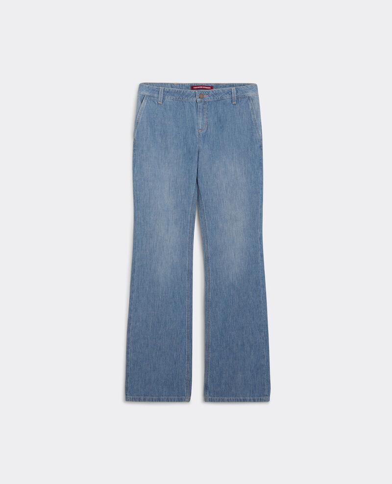 jeans flare taille haute folie douce beach blue. Black Bedroom Furniture Sets. Home Design Ideas