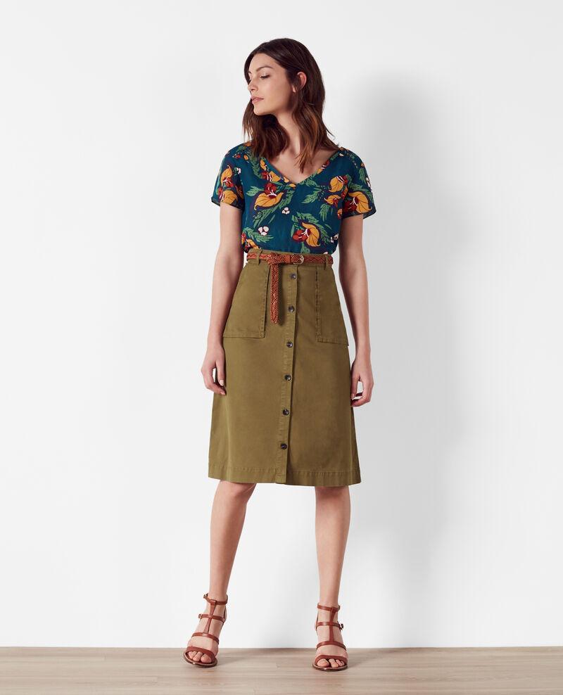 safari style midi skirt bronze cadette comptoir des