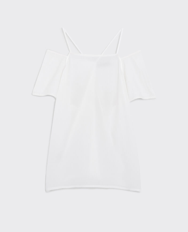 Dual fabric cotton and silk t shirt off white croisade for Cotton silk tee shirts