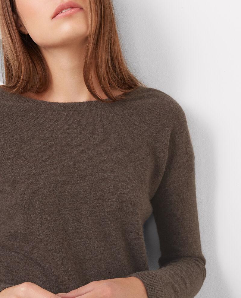pullover aus kaschmir und seide chestnut belouga. Black Bedroom Furniture Sets. Home Design Ideas