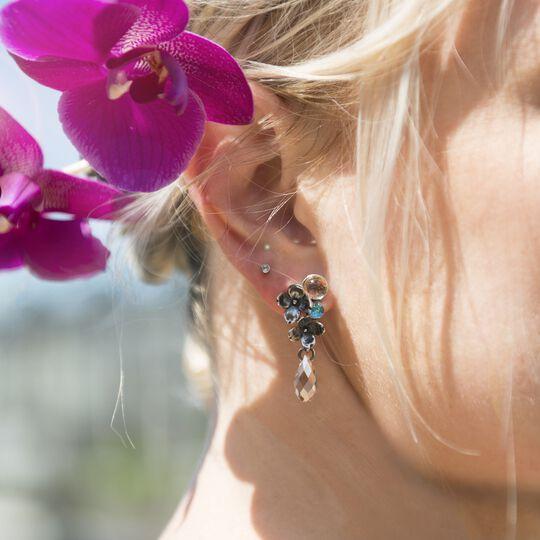 Flowers, asymmetrical Stud Earrings