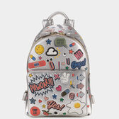 All Over Sticker Mini Backpack in {variationvalue} from Anya Hindmarch