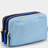 Stack Triple Make-Up Pouch by Anya Hindmarch