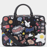 Men's All Over Stickers Walton Briefcase in {variationvalue} from Anya Hindmarch