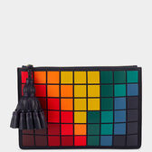Giant Pixels Georgiana clutch in {variationvalue} from Anya Hindmarch