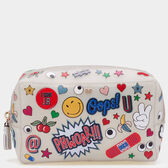 All Over Sticker Rubber Make-Up Pouch in {variationvalue} from Anya Hindmarch
