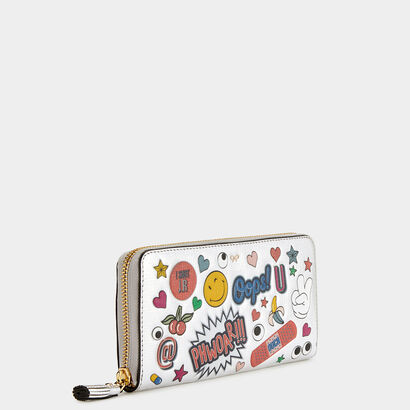 Large Zip-Around Wallet in {variationvalue} from Anya Hindmarch