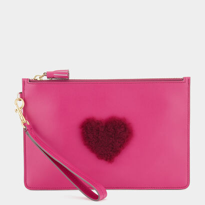 Heart Zip-Top Pouch by Anya Hindmarch