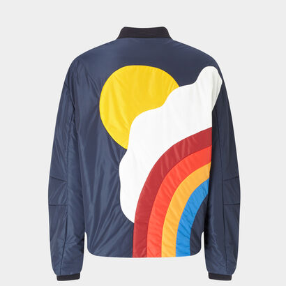 Silver Cloud bomber jacket by Anya Hindmarch