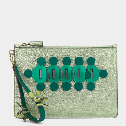 Apex Large Zip Top Pouch in {variationvalue} from Anya Hindmarch