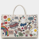 All Over Stickers Maxi Featherweight Ebury in {variationvalue} from Anya Hindmarch
