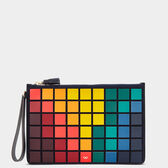 Giant Pixels Zip-Top Pouch in {variationvalue} from Anya Hindmarch