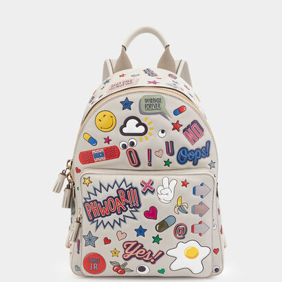 All Over Sticker Mini Backpack by Anya Hindmarch