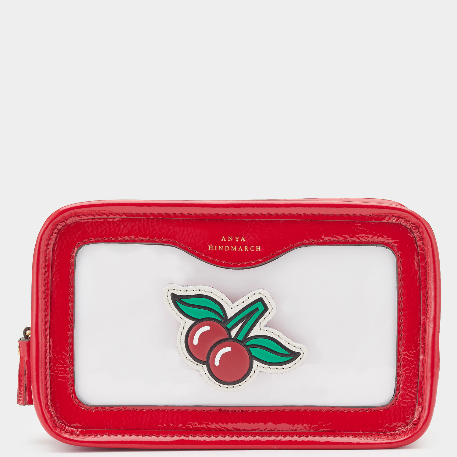 Cherries Rainy Day Make-Up Pouch by Anya Hindmarch