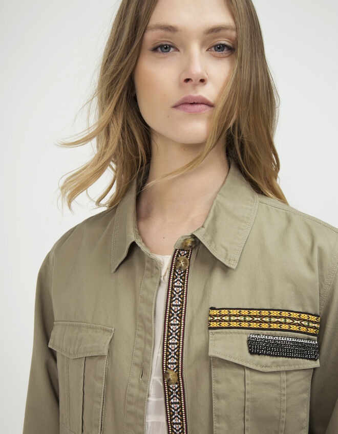 veste militaire femme ikks mode manteau parka trench automne hiver. Black Bedroom Furniture Sets. Home Design Ideas