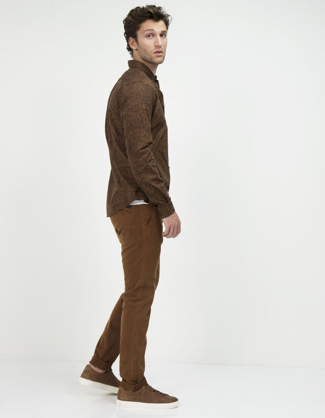 pantalon chino camel homme ikks mode pantalon automne hiver. Black Bedroom Furniture Sets. Home Design Ideas