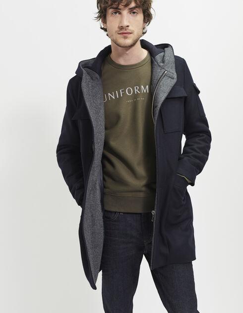 manteau capuche pour homme ikks mode archive h16 automne hiver. Black Bedroom Furniture Sets. Home Design Ideas