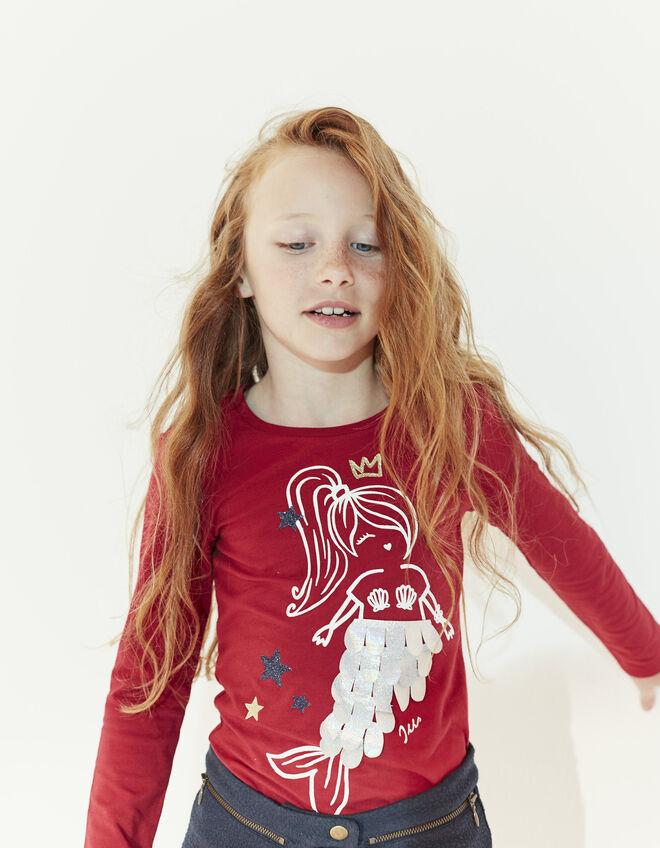 tee shirt rouge fille ikks mode tee shirt top chemise automne hiver. Black Bedroom Furniture Sets. Home Design Ideas