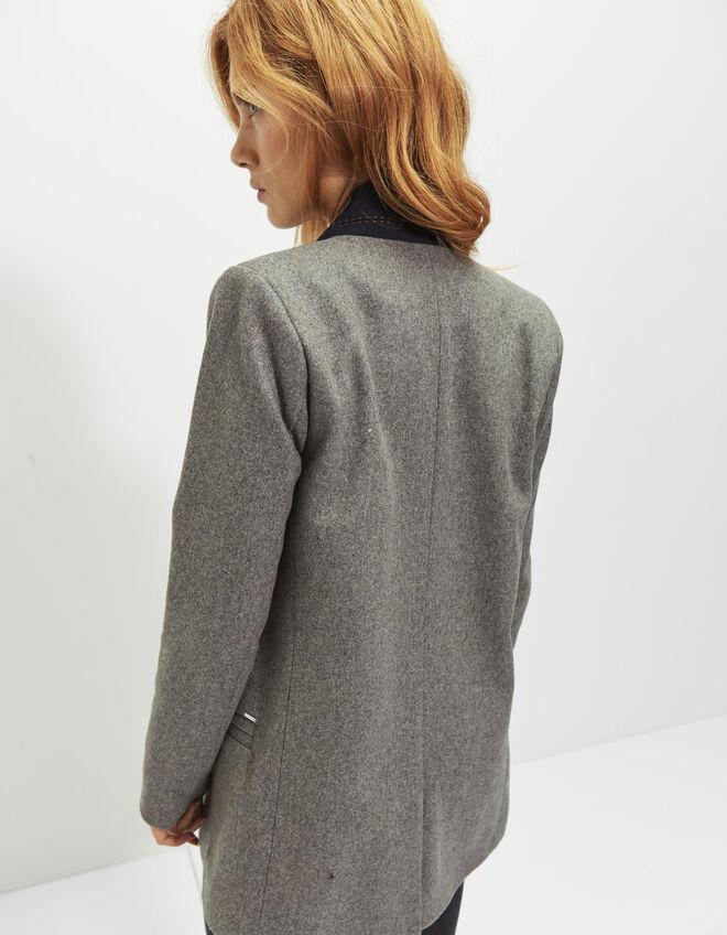 veste grise femme ikks mode archive h16 automne hiver. Black Bedroom Furniture Sets. Home Design Ideas