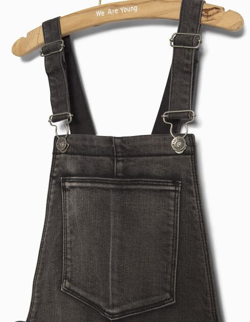 salopette jean fille ikks mode pantalon jean automne hiver. Black Bedroom Furniture Sets. Home Design Ideas