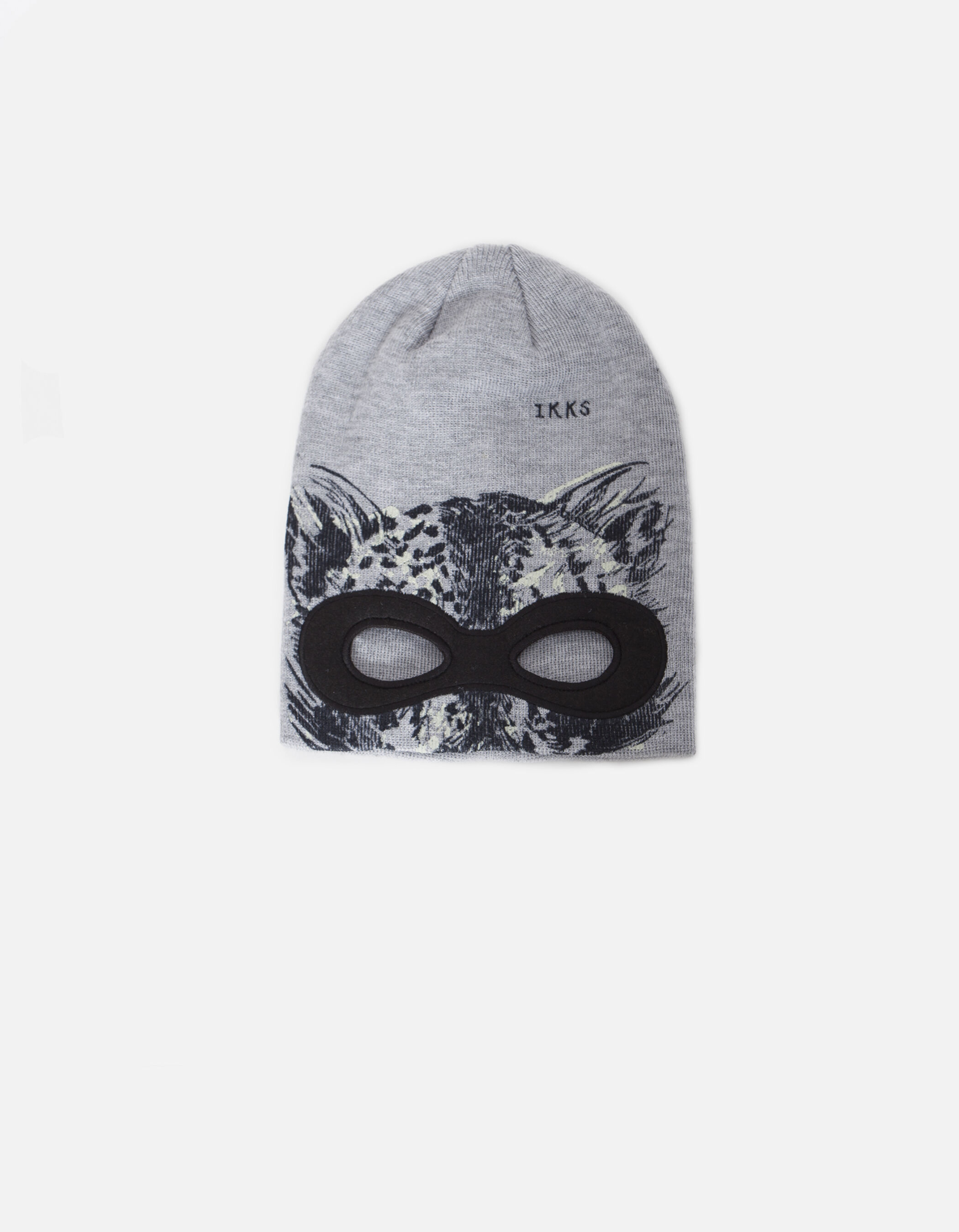 Bonnet gris masque garçon