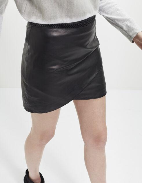 """Résultat de recherche d'images pour """"jupe noir cuir"""""""