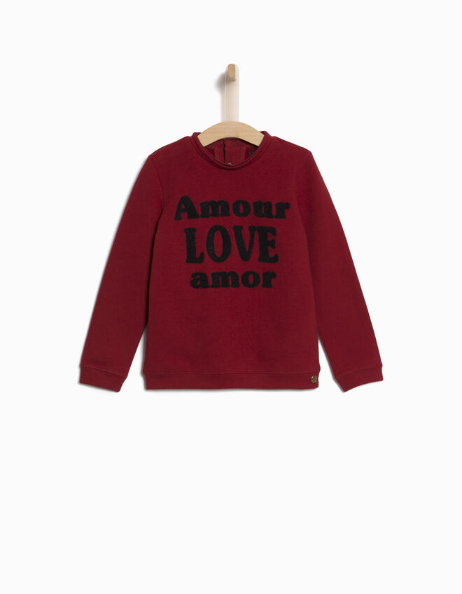 sweat message fille ikks mode pull sweat cardigan automne hiver. Black Bedroom Furniture Sets. Home Design Ideas