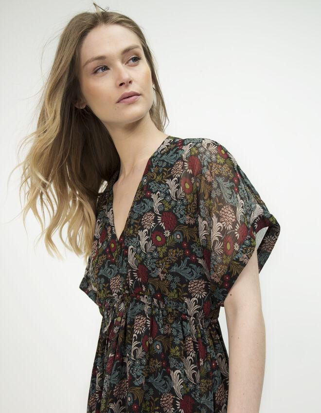 robe longue imprim floral ikks mode robe automne hiver. Black Bedroom Furniture Sets. Home Design Ideas