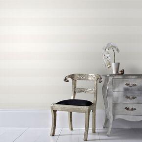 Calico Stripe Cream Wallpaper, , large