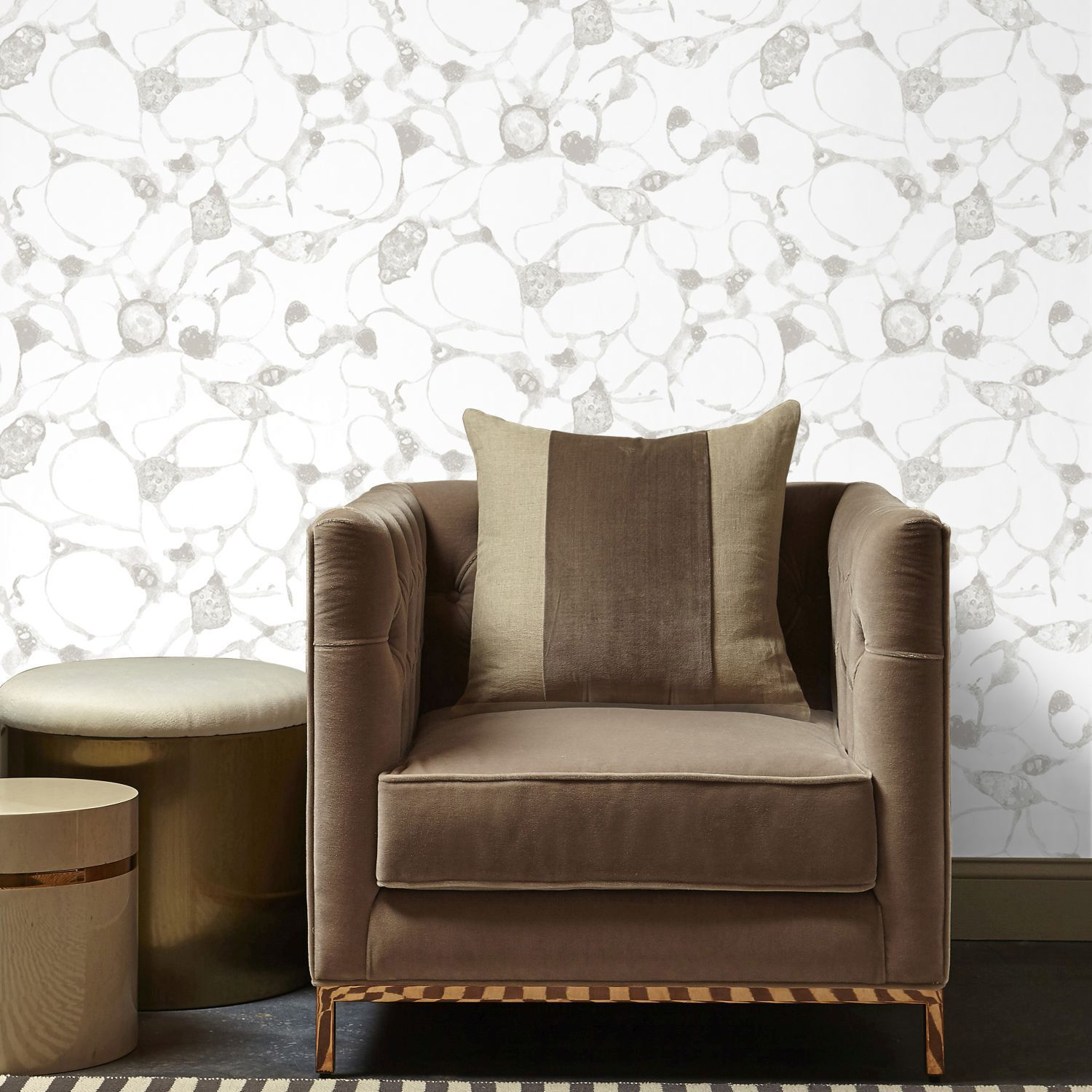 ... Large Splash Silver Wallpaper, ...
