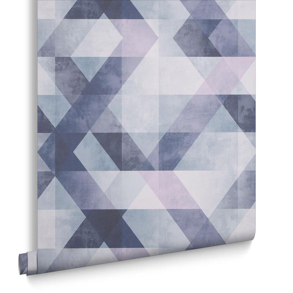 Wanders blue wanders forest flocked wallpaper damask wallpaper - Dimension Steel Blue Wallpaper