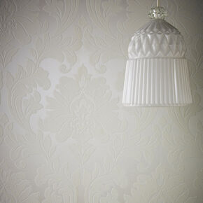 Majestic White and Mica Wallpaper, , large