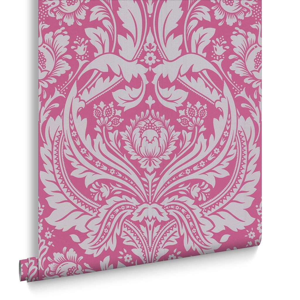 Pink Damask Wallpaper Bedroom Pink Wallpaper Light Hot Pink Wallpaper
