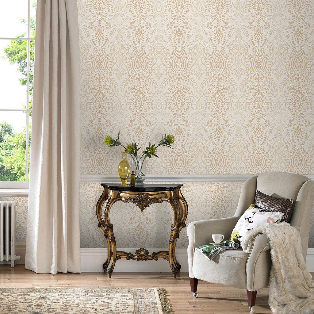 glamour damask cream gold graham brown. Black Bedroom Furniture Sets. Home Design Ideas