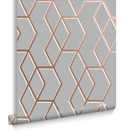 Archetype Grey & Rose Gold Wallpaper, , large