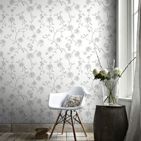 Rose Silver Wallpaper, , large