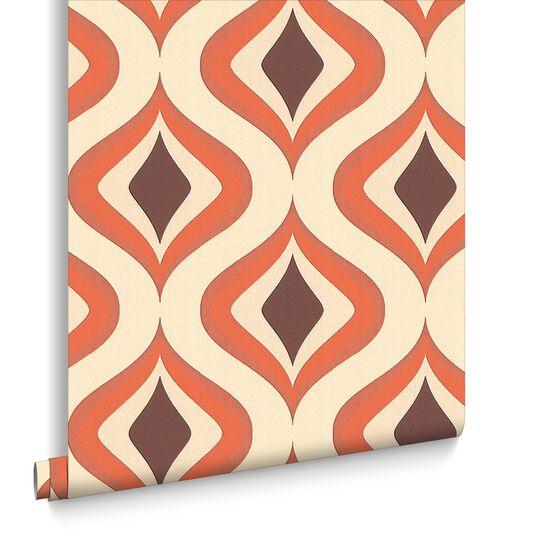 Trippy orange wallpaper orange cream wallpaper for Modern wallpaper uk