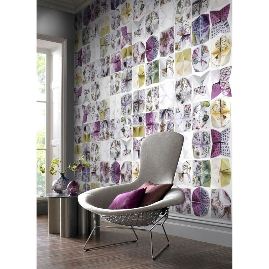 couture botanical origami mural grahambrownuk. Black Bedroom Furniture Sets. Home Design Ideas