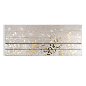 Metallic Meadow Print On Wood, , large