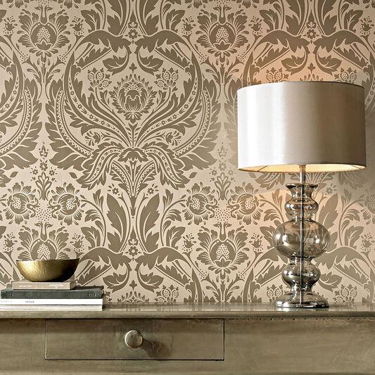 Desire Taupe And Metallic Wallpaper Graham Amp Brown