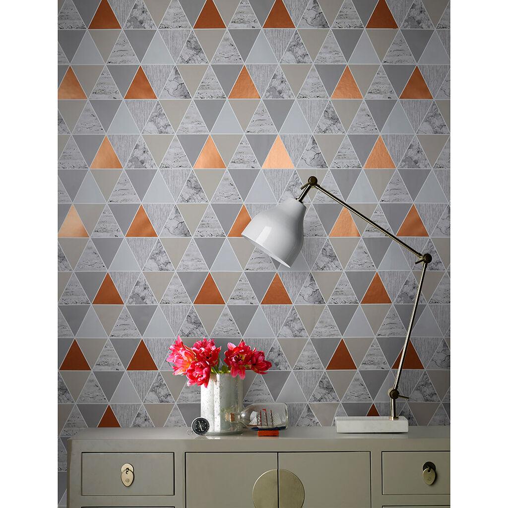 copper reflections wallpaper copper wallpaper graham brown. Black Bedroom Furniture Sets. Home Design Ideas