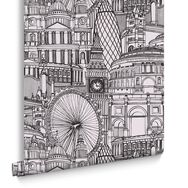 Londinium Black & White Behang, , large