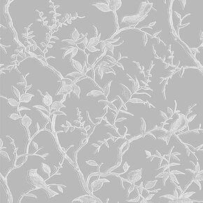 Laos Trail Grey & Silver Wallpaper, , large