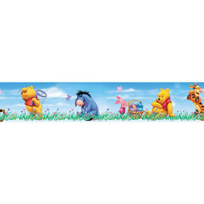 Blue Winnie the Pooh Small Border Roll, , large
